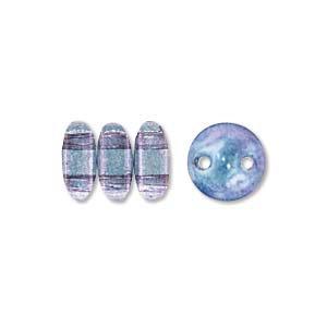 6mm Transparent Amethyst Luster 2-Hole Lentil