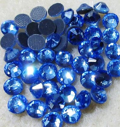 HF63-5 - 5mm Light Sapphire Hot Fix Crystals, 50/Package
