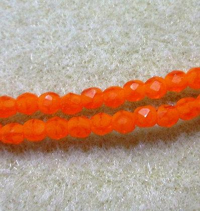 3mm Orange Alabaster Swirl, 50/Strand