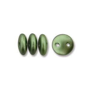 6mm Olive Green 2-Hole Lentil