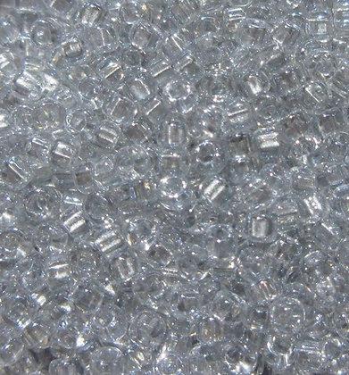 11-721 11/0 Sparkling Crystal Pewter Lined
