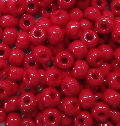 93210 - 6/0 Czech Opaque Blood Red, 22 Grams