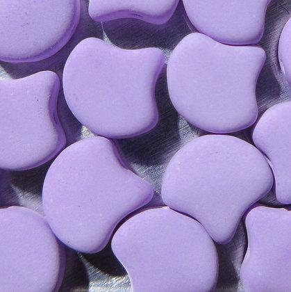 7.5x7.5mm 2-Hole Ginko Bondeli Matte Purple