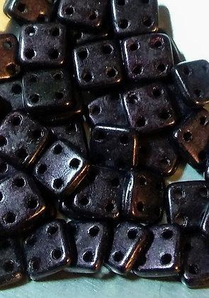 Quadratile Metallic Suede Dark Plum