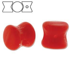 4x6mm Opaque Red Pellet Beads