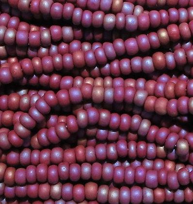 14600M - 6/0 Czech Seed Beads, Brown Rainbow Matte, Hank