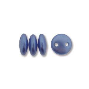 6mm Sapphire 2-Hole Lentil