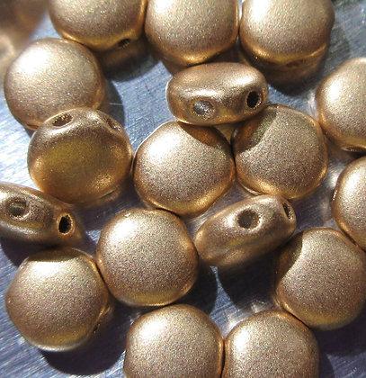 6mm 2-Hole DiscDuo Aztec Gold