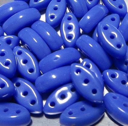 3x8mm 3-hole Cali Opaque Blue