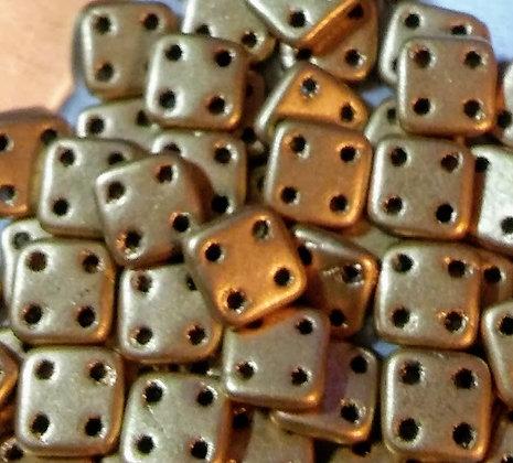 Quadratile Metallic Flax Matte