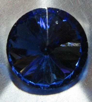 10mm Light Sapphire Rivoli, Point Back, Foiled
