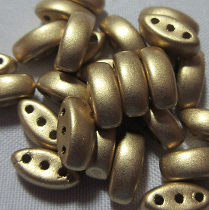 3x8mm 3-Hole Cali Pale Bronze Gold
