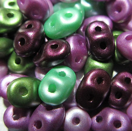 2.5x5mm SuperDuo Spring Violets Mix