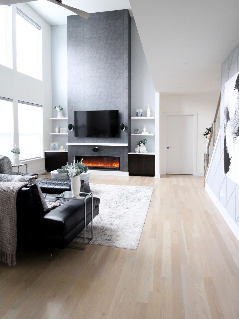 One Room Challenge - Week 6: Modern Two Story Great Room Makeover. #bhgorc #oneroomchallenge #betterhomesandgardens