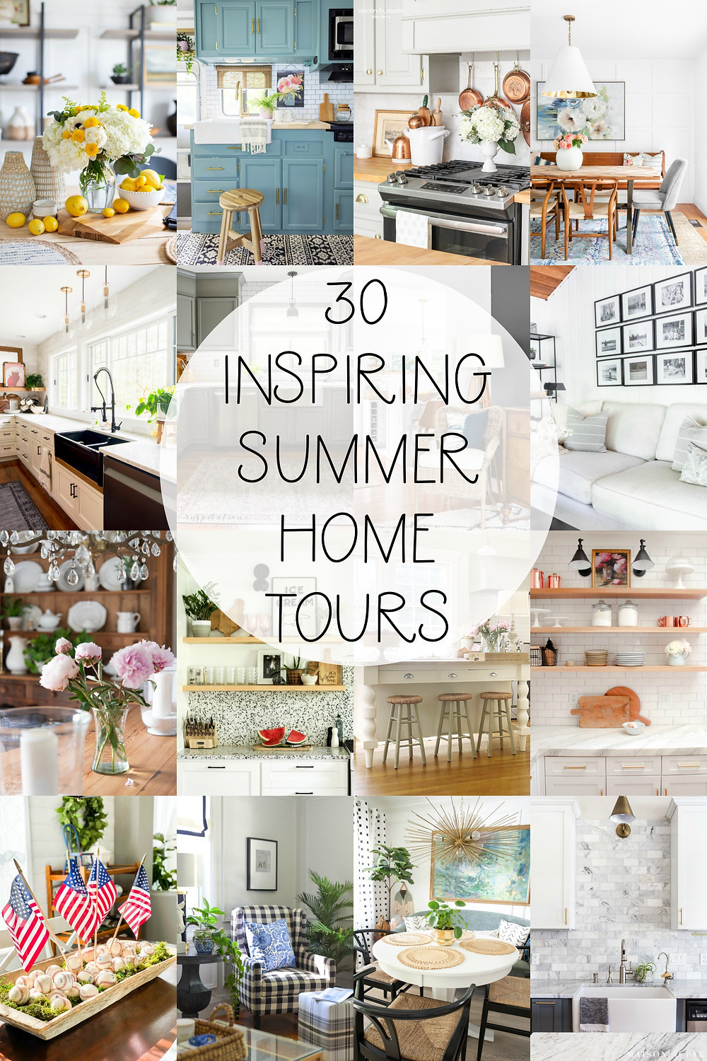 Modern Minimalist Summer Home Decorating Ideas. #summerhometour #summerdecor #summerstyling