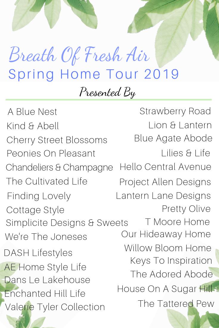Breath of Fresh Air Spring Home Tour  #springhometour #springrefresh #springdecor #bloggerhometour