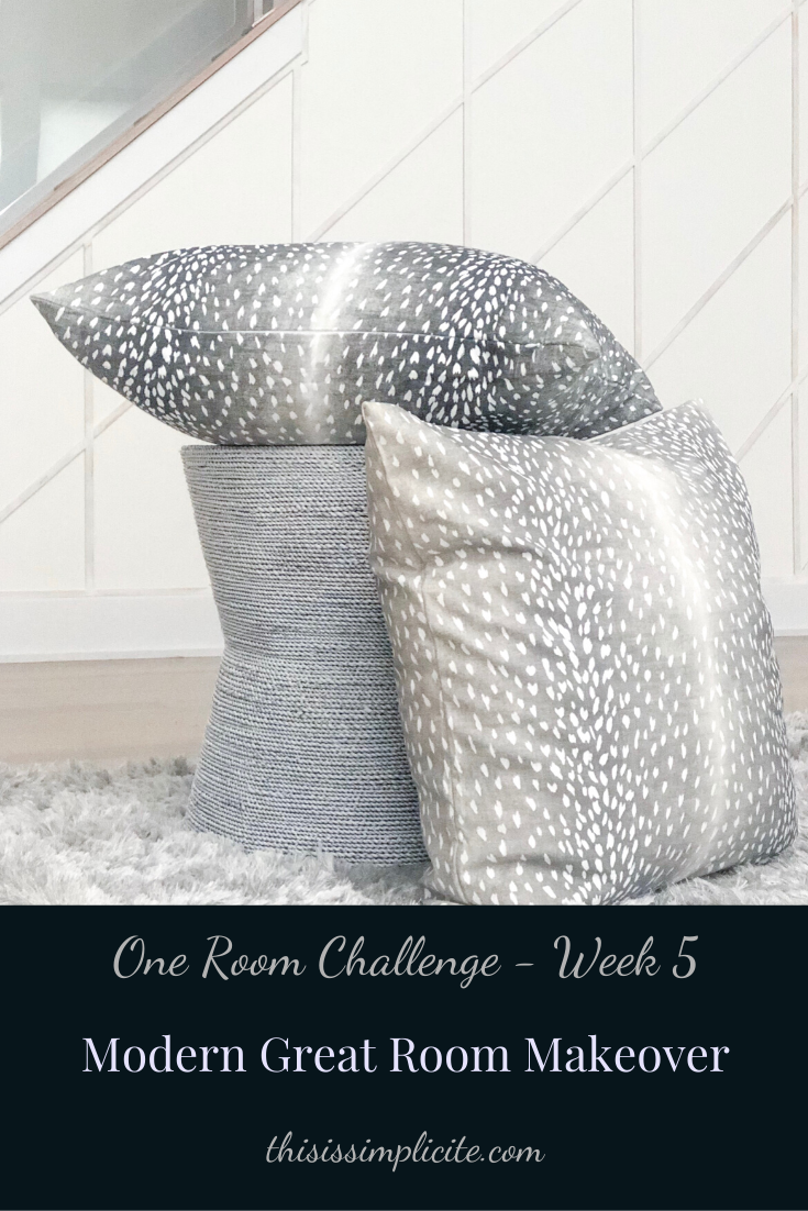 One Room Challenge: Week 5 - Modern Two Story Great Room Makeover #bhgorc #oneroomchallenge
