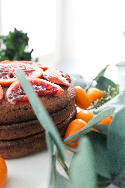candied blood orange chocolate almond cake. #candiedbloodorange #citruscake #wintercake #fruitcake