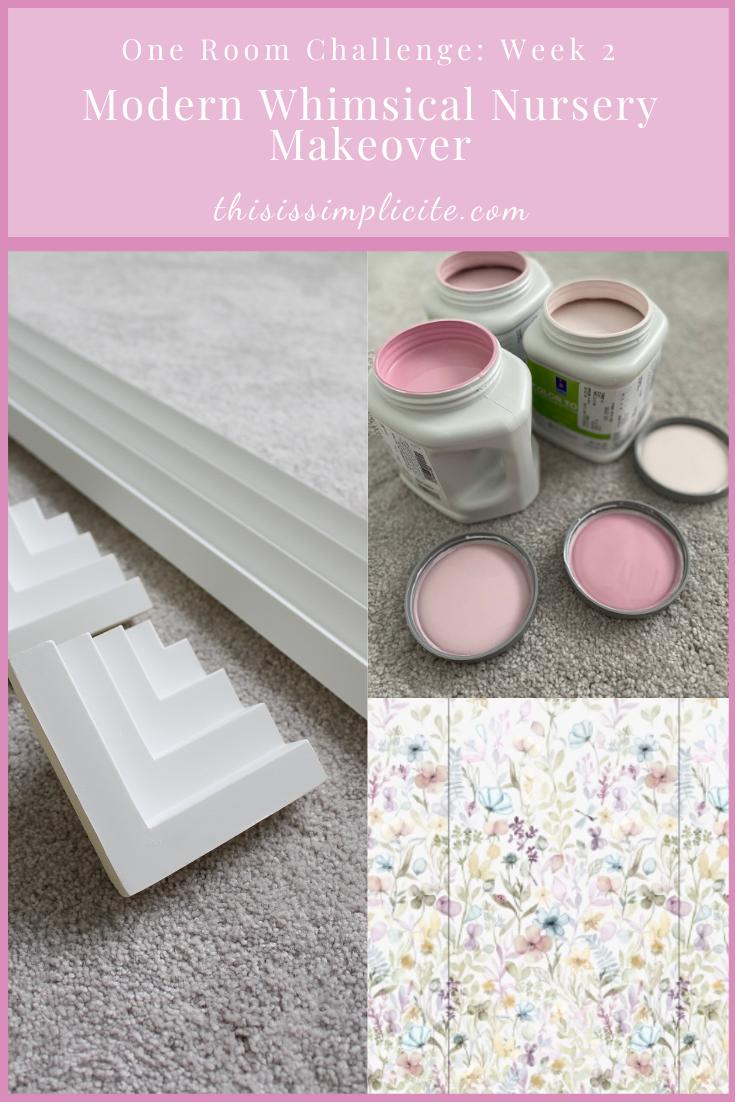 One Room Challenge: Week 2 - Modern Whimsical Nursery Makeover #oneroomchallenge #bhgorc