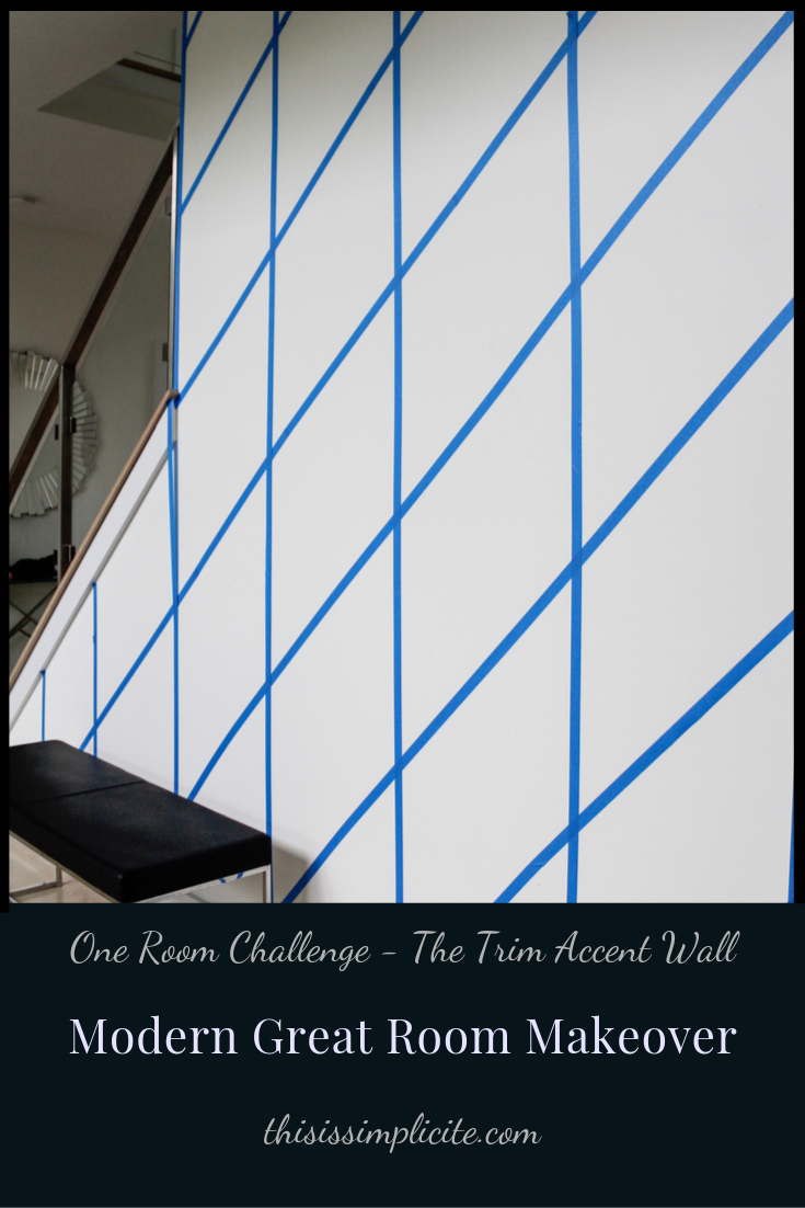 One Room Challenge - Week 3: Modern Two Story Great Room Makeover #bhgorc #oneroomchallenge #greatroommakeover