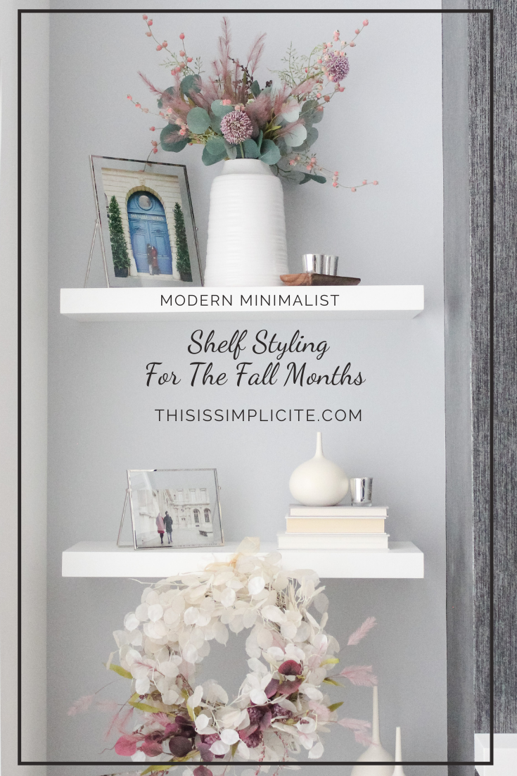 Want to decorate shelves like a pro? Check out these shelf styling tips that are easy to follow! You will find fall inspiration and fall decor ideas along with easy ways to style your shelves for the fall months. #autumndecor #falldecor #falldecorideas #fallinspiration