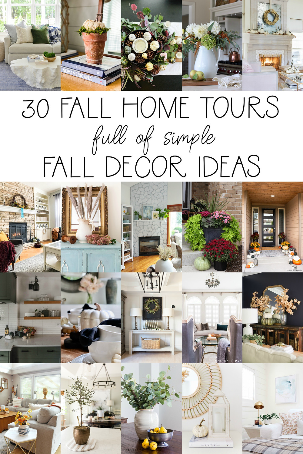Check out this Fall Home Tour filled with fall florals, fall decor inspiration, a foraged fall tablescape, fall bedroom ideas and fall front porch. This home tour is filled with mums, pumpkins, eucalyptus and fall greenery. #fallinspo #falldecor #falldecorating #modernhome