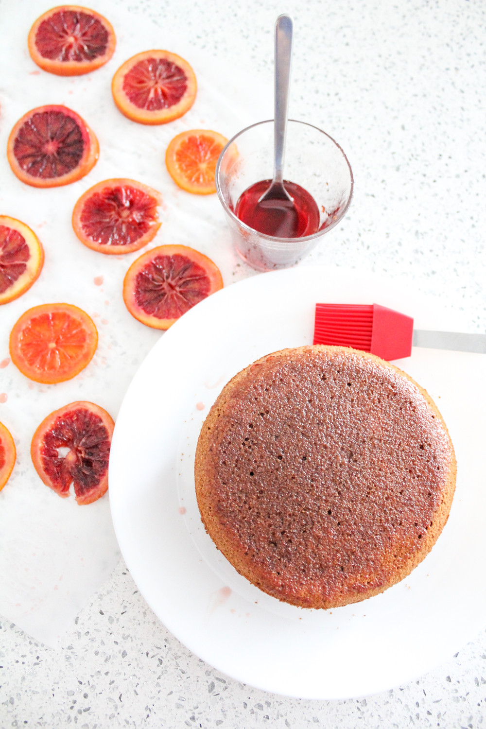 candied blood orange chocolate almond cake. #bloodorange #candiedblood orange