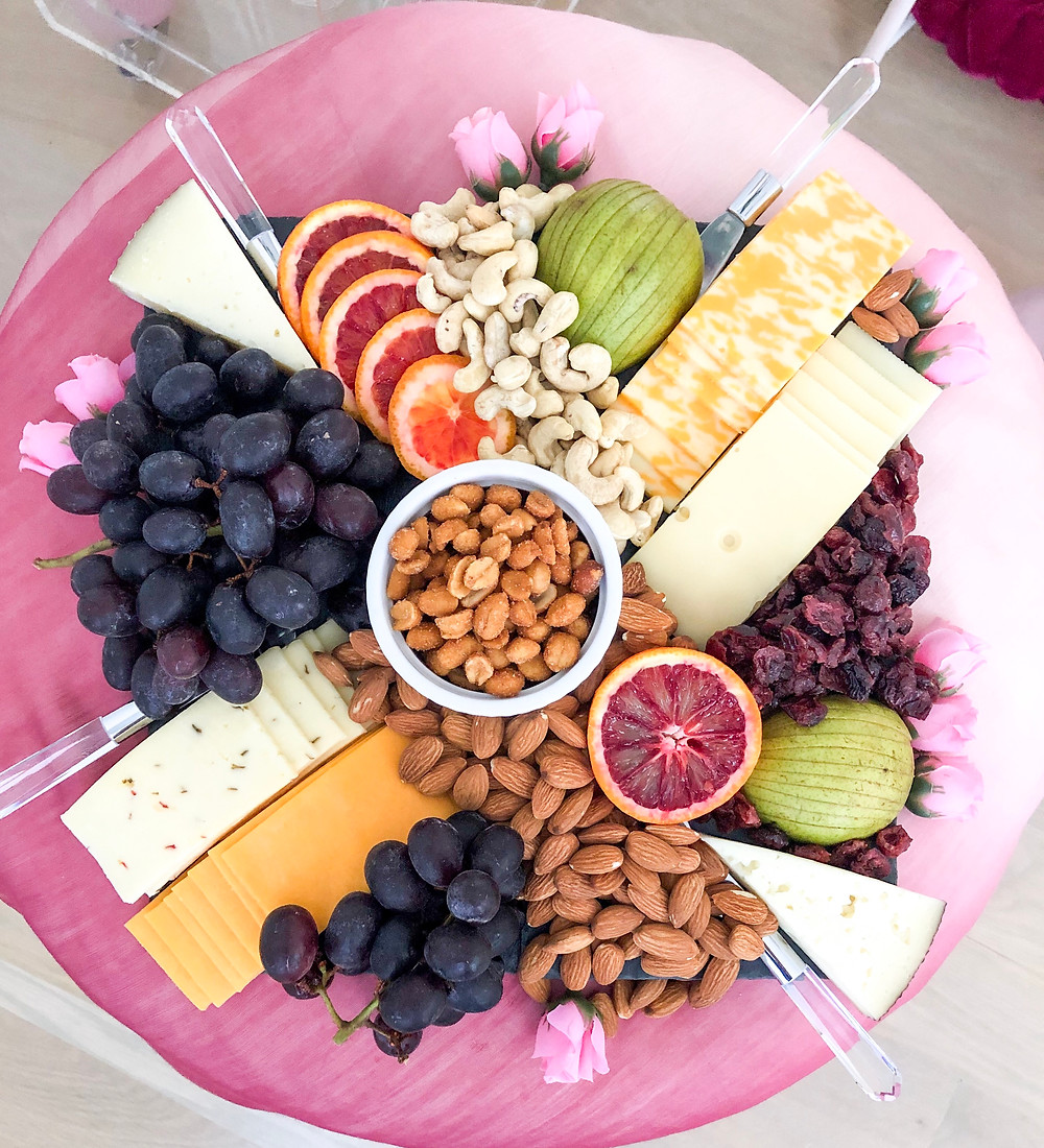 A fast and easy fruit, nut and cheese plate #cheeseplate #appetizer #fruitandnut