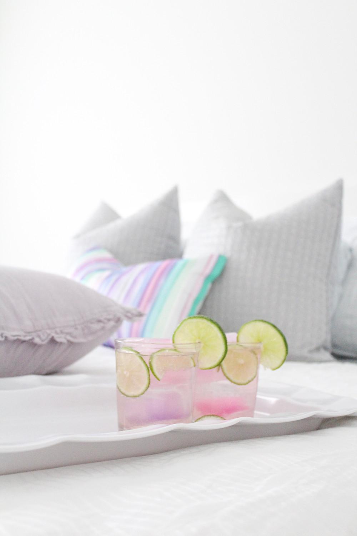A Delightful Lemon and Rose Mocktail or Cocktail. #mocktail #cocktail #lemonandrose #drink