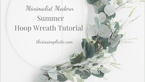 Minimalist Modern Summer Hoop Wreath Tutorial