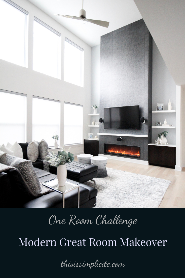 One Room Challenge - Week 6: Modern Two Story Great Room Makeover. #bhgorc #oneroomchallenge #betterhomesandgardens