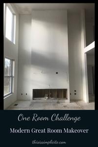 One Room Challenge - Week 1: The Modern Two Story Great Room Makeover #BHGORC #oneroomchallenge #designchallenge #betterhomesandgardens