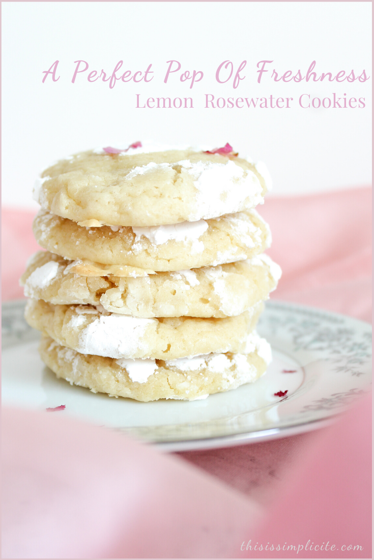 A Perfect Pop Of Freshness: Lemon Rosewater Cookies #summerfood #summerrecipes