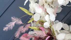 Modern Fall Lunaria Wreath (Including DIY Video)