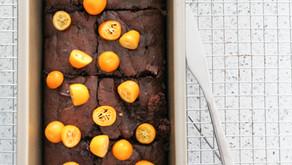 Earl Grey Infused Chocolate Brownies With Kumquats