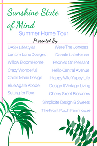 Sunshine State of Mind - Summer Home Tour. #summerdecor #summerstyling #hometour