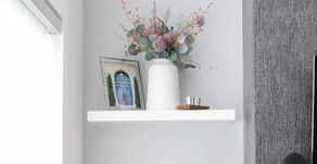 Modern Minimalist Shelf Styling For The Fall Months