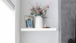 Modern Minimalist Shelf Styling For The Fall Months