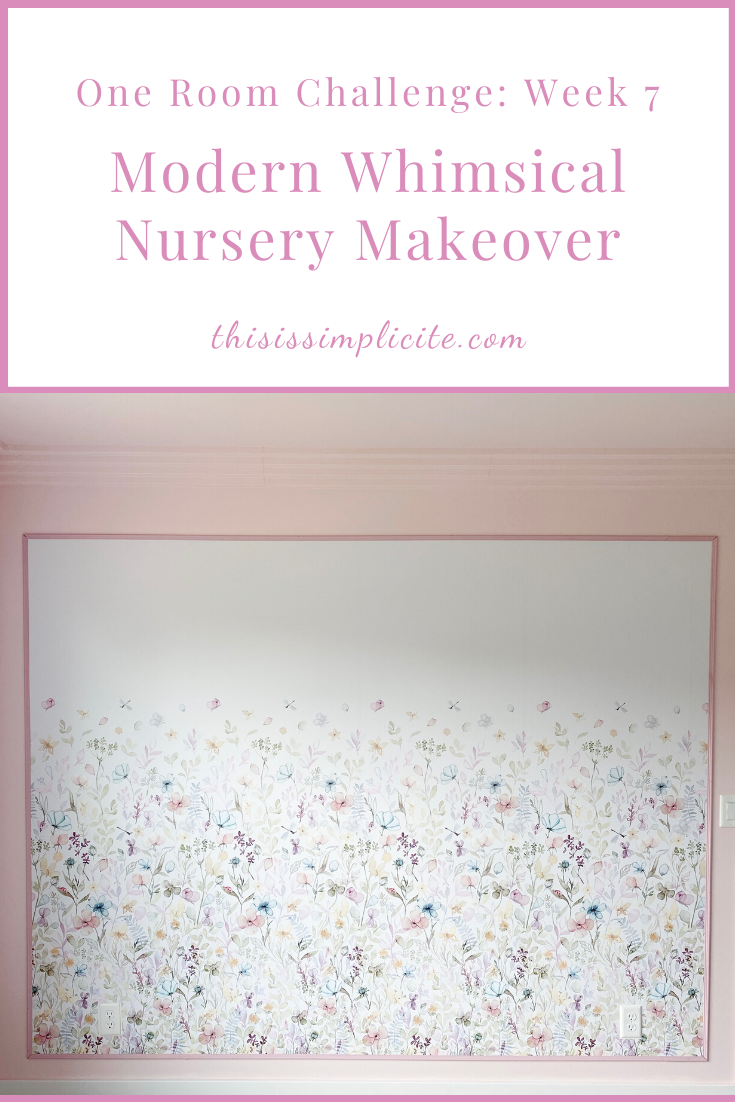 One Room Challenge: Week 7 - Modern Whimsical Nursery Makeover. #bhgorc #oneroomchallenge