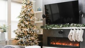 Modern Snowy Christmas Tree