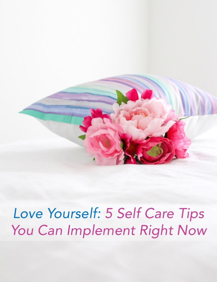 5 self care tips you can implement right now. #selfcare #selfcaretips #loveyourself #feedyourmind #feedyoursoul