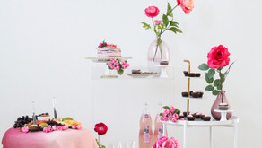 Pretty in Pink! A Valentine's Day Bar Cart How To ... I'm Sharing My 8 Easy Steps