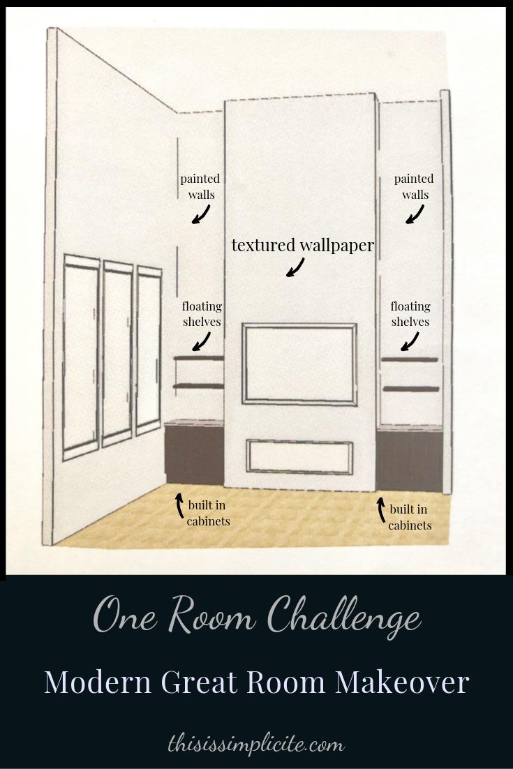 One Room Challenge - Week 2: Modern Two Story Great Room Makeover #oneroomchallenge #betterhomesandgardens #BHGORC