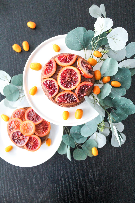 Blood orange chocolate almond cake. #wintercake #bloodorangecake