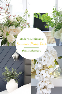 Modern Minimalist Summer Home Decorating Ideas. #summerhometour #summerdecor #summerstyling