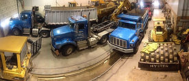 T.H. Miller Excavating Inc. trucks that haul aggregates and commercial trucking materials.