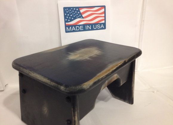 # 1006 Vintage Step Stool, Black ,Hand Crafted
