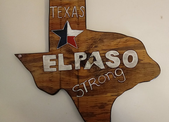 El Paso Strong Solid Wood Wall Plaque