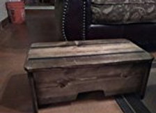10'' Tall Provencial Stained Wood Step Stool ( Made in U.S.A.)
