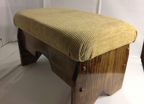 """#1005 Hand Crafted Cushioned Foot Stool 10"""" Tall"""